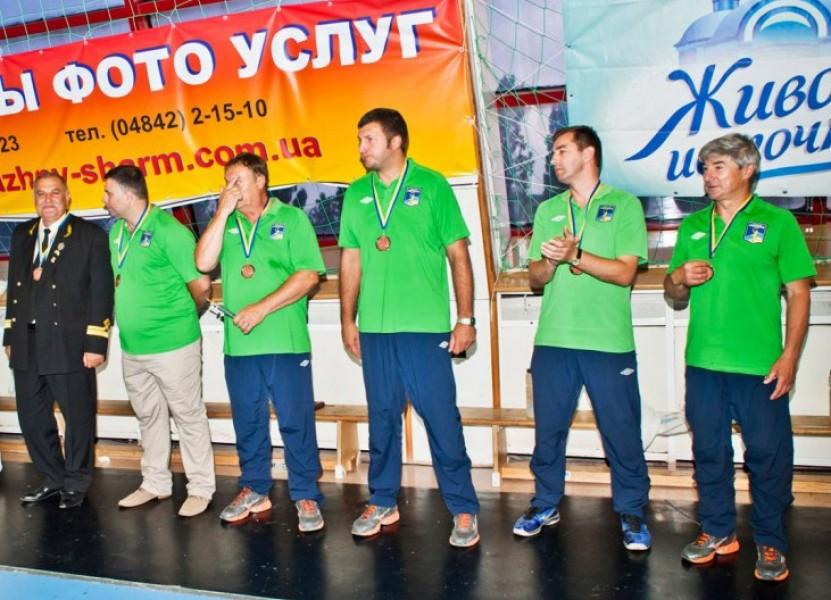Портовик-бронзовый призер чемпионата Украины 2012-2013г. Церемония награждения